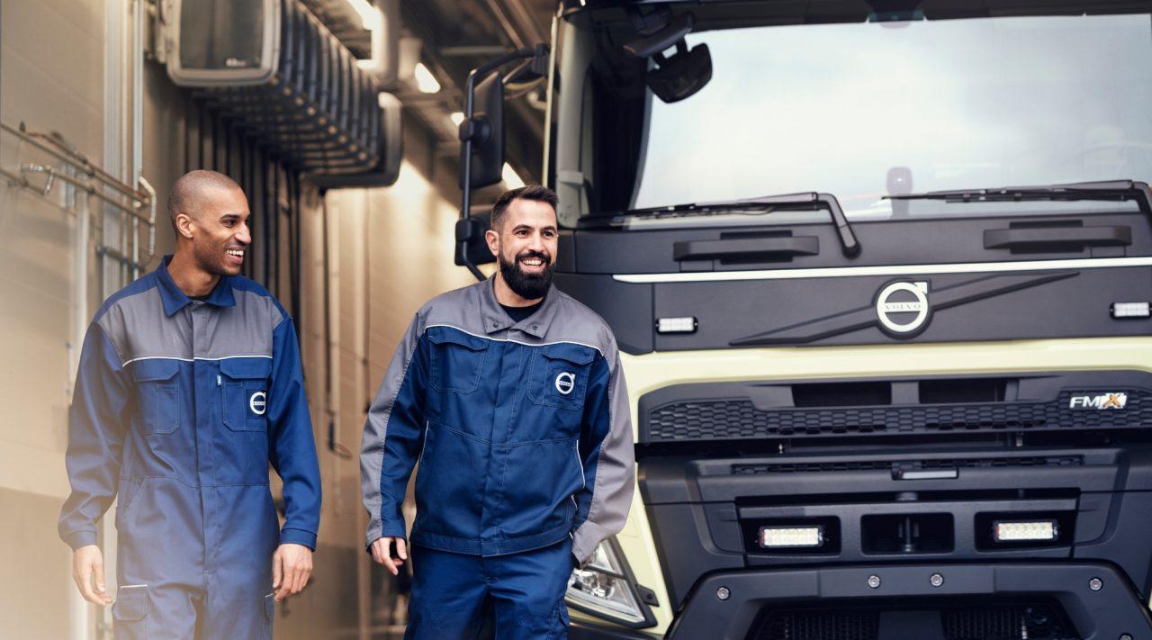 Een Volvo-truck aan het werk